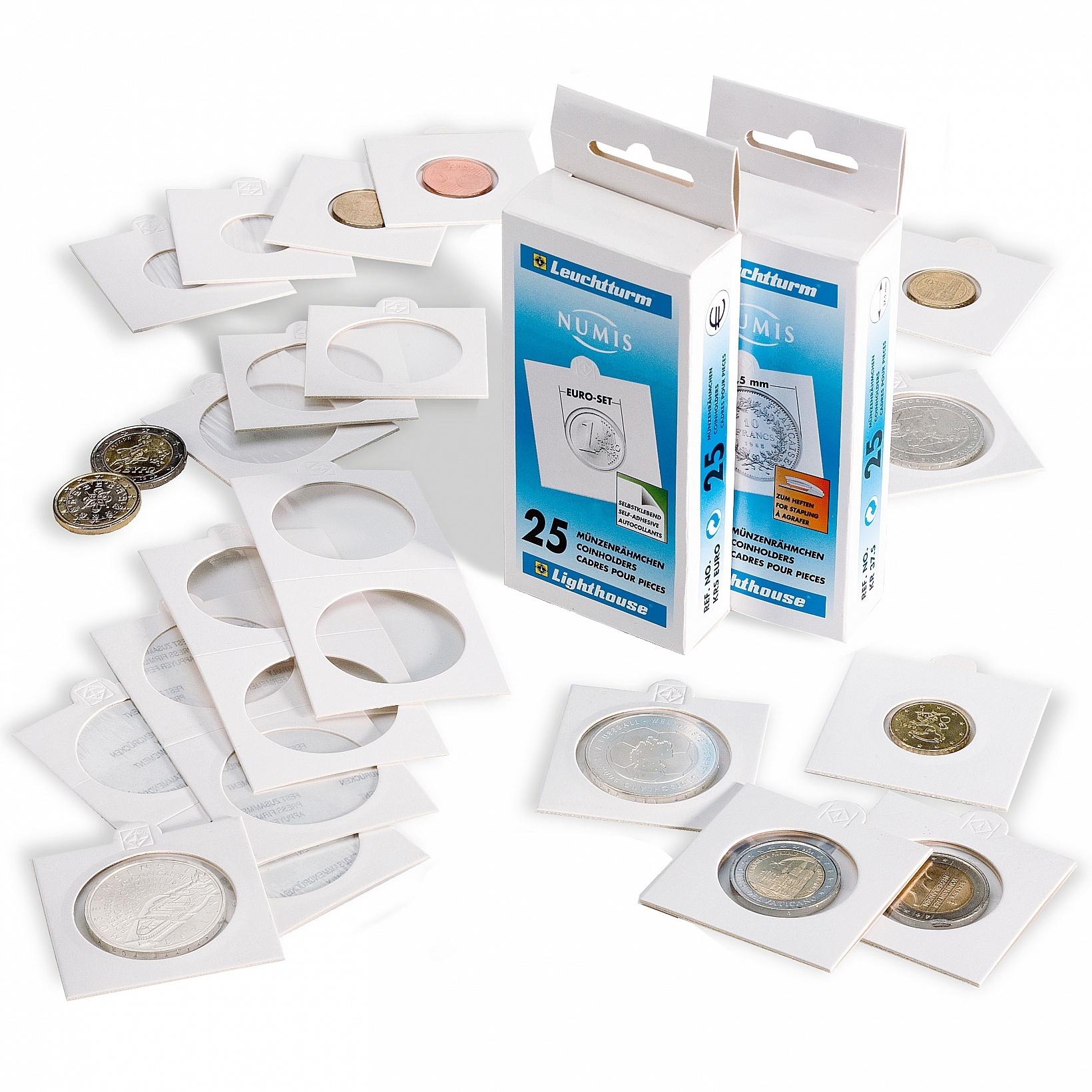 Χαρτονάκια Νομισμάτων Θήκες Lighthouse Αυτοκόλλητα 39,5mm Νο 10
