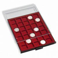 Συρτάρι Νομισμάτων 48 Θέσεων Για Μέχρι 28mm Κόκκινο