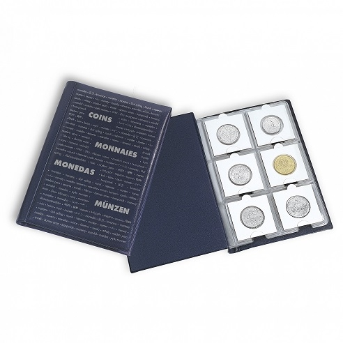 Φορητό Άλμπουμ Νομισμάτων Με 10 Σελίδες Για 60 Νομίσματα