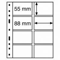 Διάφανα Φύλλα OPTIMA 8 Θέσεων Για Τηλεκάρτες 10 Σελίδες