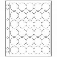 Πλαστικά Φύλλα Encap 30 Θέσεων Για Νομίσματα 32mm - 33mm (2 Φύλλα)