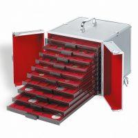 ALUMINIUM COIN CASE CARGO MB10 FOR 10 COIN BOXES