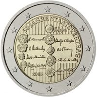 2 ΕΥΡΩ 2005 Αυστρία 50th Anniversary of the Austrian State Treaty