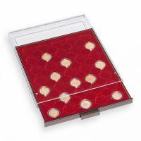 Συρτάρι Νομισμάτων 40 Θέσεων Για Κάψουλες Ποικίλων Διαστάσεων Euro Set Κόκκινο