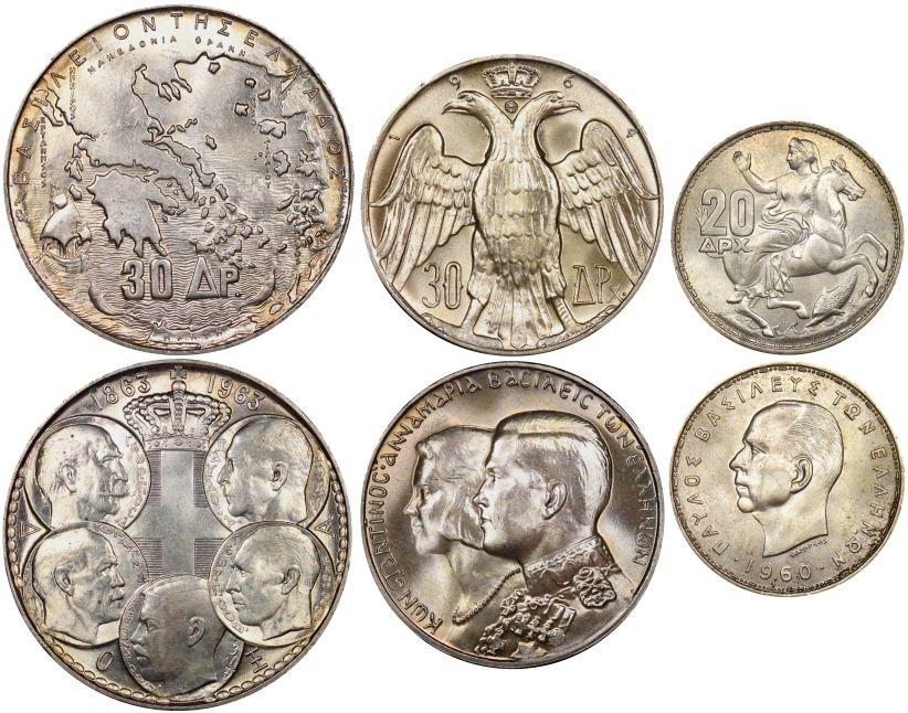 30 Δραχμές 1963 1964 & 20 Δραχμές 1960