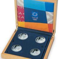 Νομίσματα Λαμπαδηδρομίας 4 Αργυρά Νομίσματα Αθήνα 2004
