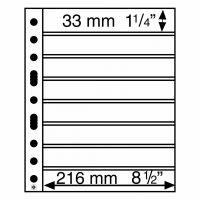 Πλαστικά Φύλλα GRANDE 8 Θέσεων για Γραμματόσημα (Μαύρες 5 σελίδες)