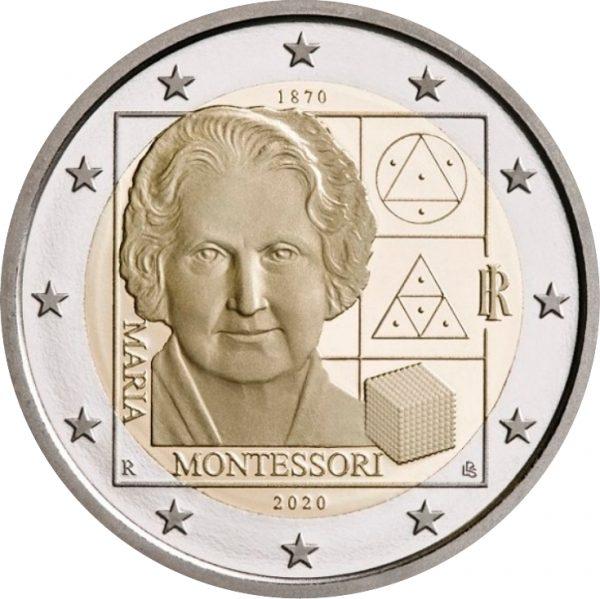 Ιταλία 2 Ευρώ 2020 150th Anniversary Of The Birth Of Maria Montessori
