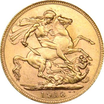 Χρυσή Λίρα 1918 Γεώργιος
