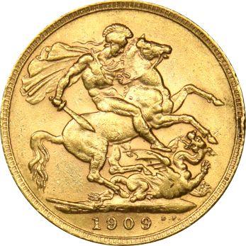 Χρυσή Λίρα 1909 Εδουάρδος