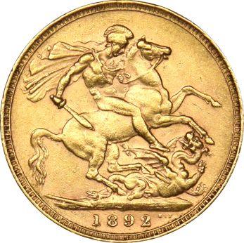 Χρυσή Λίρα 1892 Βικτωρία