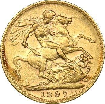 Χρυσή Λίρα 1897 Βικτωρία