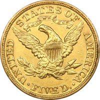 USA Χρυσό 5 Δολάρια 1907 Ηνωμένες Πολιτείες Αμερικής