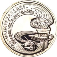 Turkey 10000 Lira 1988 Summer Olympic Games