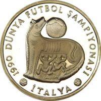 Turkey 20000 Lira 1990 Italian Football