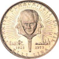 Turkey 50 Lira 1973 50th Annivarsary of the Republic