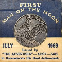 USA First Man On The Moon Medal 1969