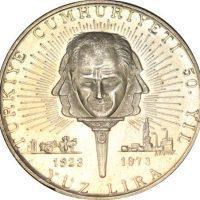 Turkey 100 Lira 1973