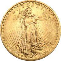 USA Χρυσό 20 Δολάρια 1908 St Gaudens