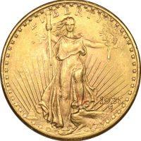 USA Χρυσό 20 Δολάρια 1925 St Gaudens