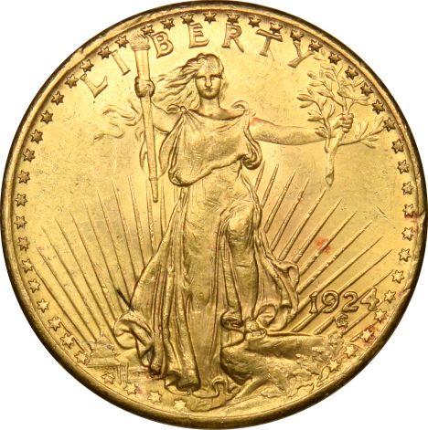 USA Χρυσό 20 Δολάρια 1924 St Gaudens