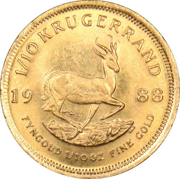 South Africa Χρυσό 1/10 Κρoύγκεραντ Krugerrand