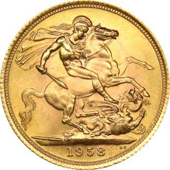 Χρυσή Λίρα Αγγλίας 1958 Ελισάβετ