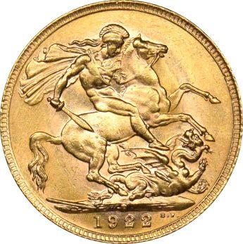 Χρυσή Λίρα Αγγλίας 1922 Γεώργιος