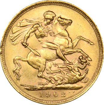 Χρυσή Λίρα Αγγλίας 1902 Εδουάρδος