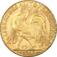 Γαλλία Χρυσό 20 Francs 1911