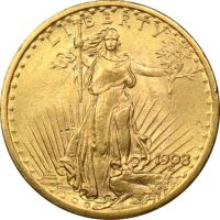 20 Dollars 1908 Gold