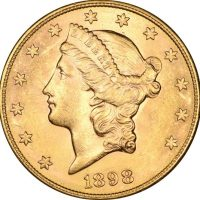USA Χρυσό 20 Δολάρια 1898 Liberty Head - Double Eagle