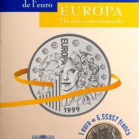 Europa Silver Ασημένιο 1999 – The Euro Conversion Coin