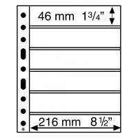 Πλαστικά Φύλλα GRANDE 8 Θέσεων για Γραμματόσημα (Μαύρες 6 σελίδες)