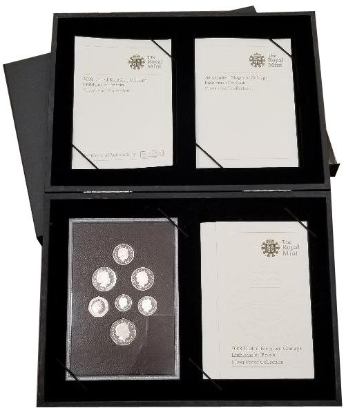 Βρετανία 2008 United Kingdom Silver Proof Coin Collection Emblems