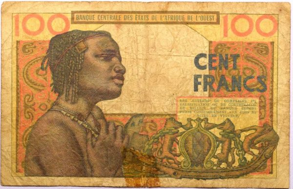 Χαρτονόμισμα 100 Francs West Africa 1965
