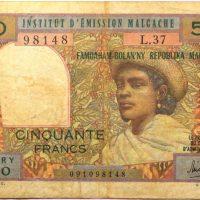 Χαρτονόμισμα 50 Francs Madagascar