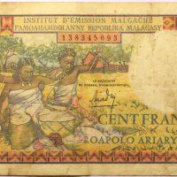 Χαρτονόμισμα 100 Francs Madagascar