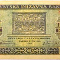 Χαρτονόμισμα Κροατία Croatia 1000 Kuna 1943