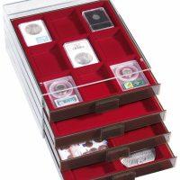 Κουτί Νομισμάτων XL 1 Θέσης 210mm x 270mm Κόκκινο Χωρίς Διαχωριστικά