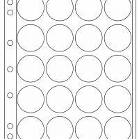 Πλαστικά Φύλλα Encap 20 Θέσεων Για Νομίσματα 38mm - 39mm