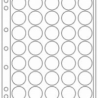 Πλαστικά Φύλλα ENCAP 35 Θέσεων Για Νομίσματα 28mm - 29mm