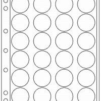 Πλαστικά Φύλλα ENCAP 24 Θέσεων Για Νομίσματα 34mm - 35mm