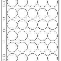 Πλαστικά Φύλλα ENCAP 30 Θέσεων Για Νομίσματα 30mm - 31mm