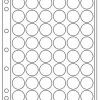 Πλαστικά Φύλλα ENCAP 48 Θέσεων Για Νομίσματα 22mm - 23mm