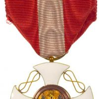 Italy Order Of The Crown in Gold Knight's Cross With Box