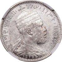 Αιθιοπία Ethiopia 1/8 Birr 1887 NGC AU58