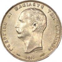 Ελλάδα Νόμισμα 2 Δραχμές 1911 NGC MS61