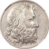 Ελλάδα Νόμισμα A Ελληνική Δημοκρατία 20 Δραχμές 1930 NGC AU55