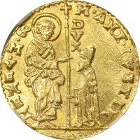 Ιταλία Italy Venice 1 Zecchino 1684-88 Marcantonio Giustinian NGC Unc Details